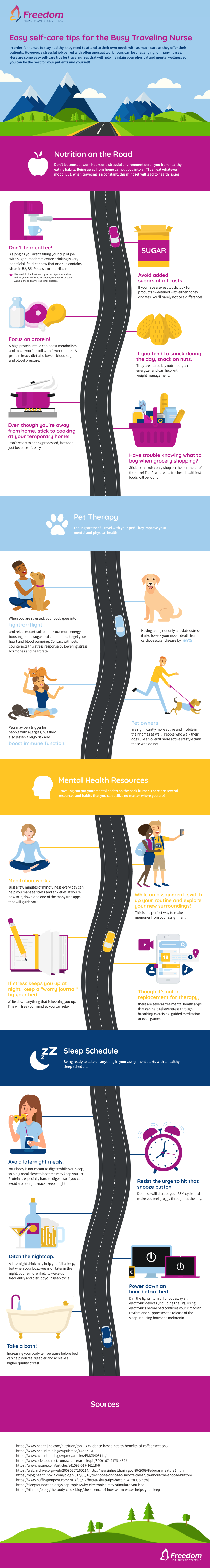 freedom healthcare self care tips infographic