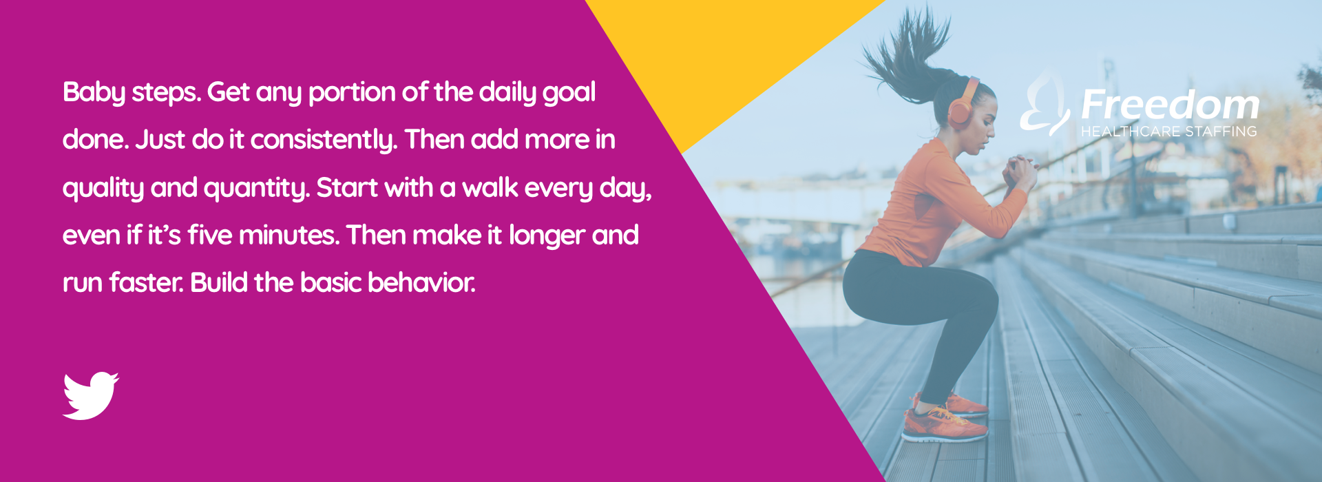 Baby steps. Get any portion of the daily goal done. Just do it consistently. Then add more in quality and quantity. Start with a walk every day, even if it's five minutes. Then make it longer and run faster. Build the basic behavior.